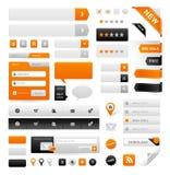 Gráficos del Web site Imágenes de archivo libres de regalías