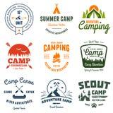 Gráficos do acampamento do vintage Imagens de Stock