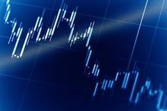 Gráficos do mercado de valores de ação Imagens de Stock Royalty Free