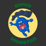 Gráficos lindos de la camiseta del monstruo, historieta linda Foto de archivo libre de regalías