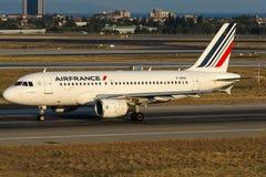 Φ-GRHL Air France, airbus A319-100 Στοκ φωτογραφίες με δικαίωμα ελεύθερης χρήσης