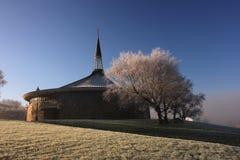 grianan的教堂 免版税库存照片