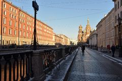 Griboedov Canal and the Savior on Blood Stock Photography
