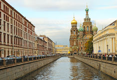Griboedov Canal in St-Petersburg, Russia Royalty Free Stock Photos
