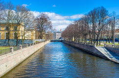 The Griboedov Canal in St Petersburg Stock Images