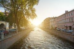 Griboedov kanal royaltyfri bild