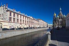 Griboedova码头, StPetersburg,俄罗斯 库存图片