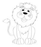 Gribouille l'animal de rédaction pour le lion Images libres de droits