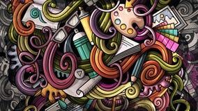 Gribouille l'illustration de conception graphique Fond créateur d'art illustration stock