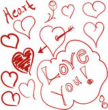 gribouille le coeur Image stock