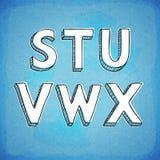 Gribouillez la police tirée par la main S-X de style Images stock