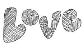 Gribouillez les graphiques typographiques créatifs avec une page de couleur Image stock