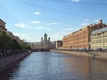 Griboyedov运河在圣彼得堡 免版税库存照片