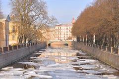 Griboyedov运河的看法 免版税库存图片