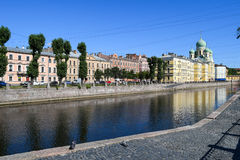 The Griboyedov canal embankment in St.Petersburg Royalty Free Stock Photography