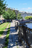 The Griboyedov canal embankment Stock Images