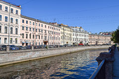 The Griboyedov canal embankment Stock Image
