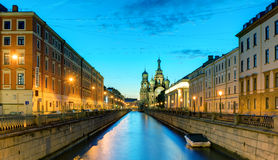 Griboyedov Canal (Kanal Griboyedova) in St. Petersburg, Russia Royalty Free Stock Photography