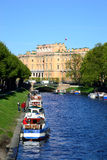 Griboyedov Canal and Mikhailovsky Castle (Engineers Castle). Stock Photography