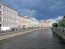 Griboyedov canal in Saint Petersburg. Russia.. Saint Petersburg, Russia - August, 2016: Griboyedov canal in Saint Petersburg, Russia. Tourism in Saint Royalty Free Stock Image