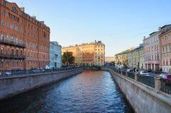 Griboyedov kanał w Świątobliwym Petersburg Fotografia Royalty Free
