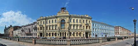 Griboyedov kanal Royaltyfria Foton