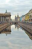 Griboyedov kanal i St-Petersburg, Ryssland Fotografering för Bildbyråer