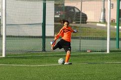 Grichenko塔蒂亚娜(16), Kubanochka队的守门员 图库摄影