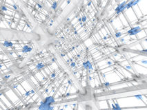 The Grid. 3D rendered Illustration. A 3 dimensional grid Stock Photos