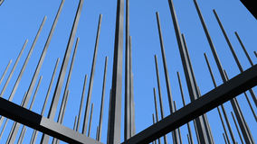 Grid 3. Metal grid infrastructure of a half completed building Royalty Free Stock Photography