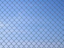Grid. Metal grid - texture. Shot over blue sky Stock Photos