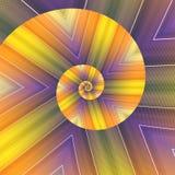Spiral kaleidoscope royalty free stock photos