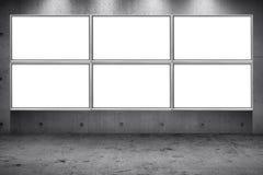 Billboard led panel on concrete wall building street roadside background. Grid array of advertising billboard led panel on concrete wall building street roadside royalty free stock photo