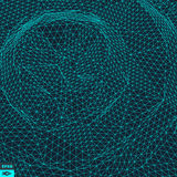 Grid Background. 3d Vector Illustration. Futuristic Technology Style Stock Photos
