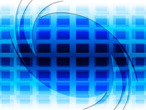 Grid Background Represents Blue Twist And Twirling Royalty Free Stock Photos