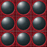 Grid balls. Fractal background image of grids and spheres Royalty Free Stock Photos