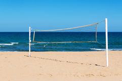 Grid for beach volleyball on seacoast Stock Photography