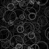 Grid on a black seamless. Grey gears on a black background, seamless pattern vector illustration vector illustration