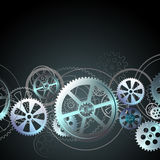 Grid on a black 01. Steel gears on a black background, vector illustration clip-art royalty free illustration