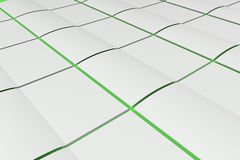 Grid of blank white opened brochure mock-up on green background. Magazine spreads template. 3D rendering illustration Royalty Free Stock Photo
