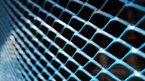 Grid. Blue grid on the old car stock video