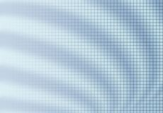 Grid blur background blue. Fine grid fading to left on blur background of curved ripple waves. Blue tone Stock Photo