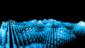 Grid of bright spots, motion blur. Abstract 3d rendering backgro. Und vector illustration