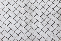 Grid cell background old rusty metal mesh wire. Consistent danger design Stock Photo