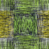 Grid checkered grunge striped seamless pattern in green,yellow,black,white colors. For web design Royalty Free Stock Photo