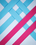 Grid with colored strips of paper Royalty Free Stock Image