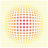 Grid connection. Abstract illustration of grid ball symbolizing connection and globalization Stock Photography