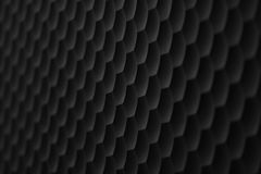 Grid consisting of convex hexagons of black color as a background or a backdrop Royalty Free Stock Photography