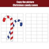 Grid copy game, christmas theme Stock Image