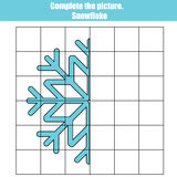 Grid copy game, complete the picture educational children . Royalty Free Stock Photos
